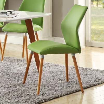 Keagan Side Chair (Set of 2) Side Chair Upholstery: Green
