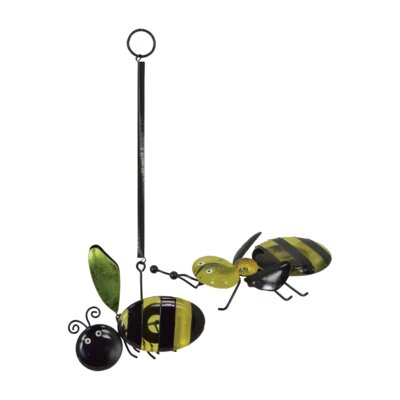 2 Piece Glass Bee Set (Set of 2) ZIPC4021 31638008