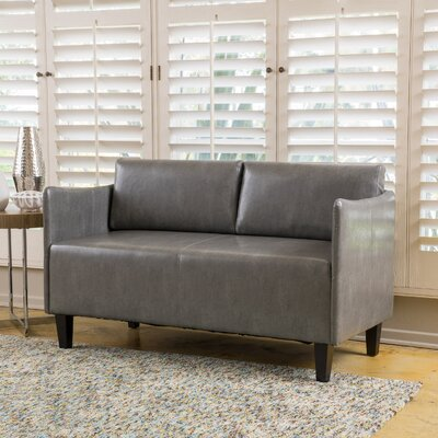 Keanu Loveseat Upholstery: Gray