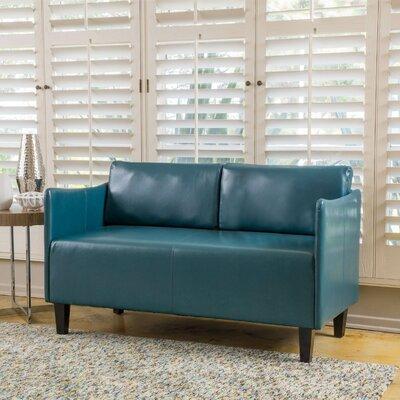 Keanu Loveseat Upholstery: Teal