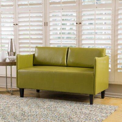 Keanu Loveseat Upholstery: Green