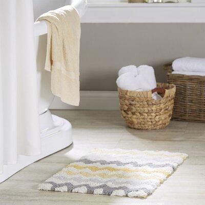 Francine Bath Mat Color: Yellow/Grey, Size: 32 H x 20 W