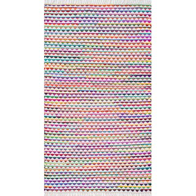 Kael Hand-Loomed Pink/Purple Area Rug Rug Size: Rectangle 5 x 8