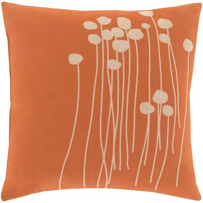Kierra 100% Cotton Throw Pillow Cover Size: 20 H x 20 W x 1 D, Color: Bright OrangeBeige