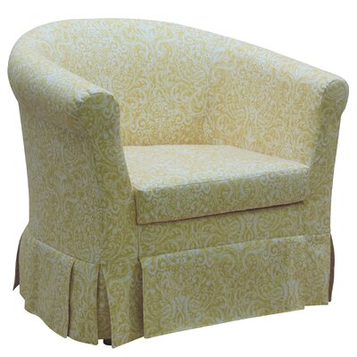 Cayeman Skirted Barrel Chair Upholstery: Yellow