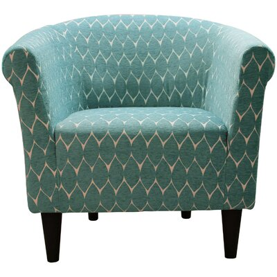Liam Barrel Chair Upholstery: Bossanova Raindrop