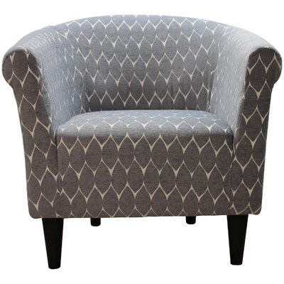 Liam Barrel Chair Color: Bossanova Boulder