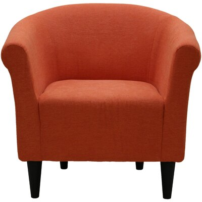 Liam Barrel Chair Upholstery: Hacienda Orange