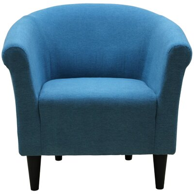 Liam Barrel Chair Upholstery: Turquoise