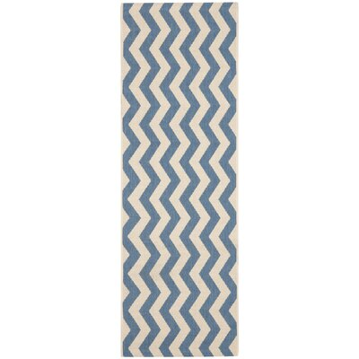 Mullen Blue/Beige Indoor/Outdoor Area Rug Rug Size: Rectangle 27 x 5