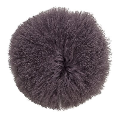 Shawna Lamb Fur Suede Throw Pillow
