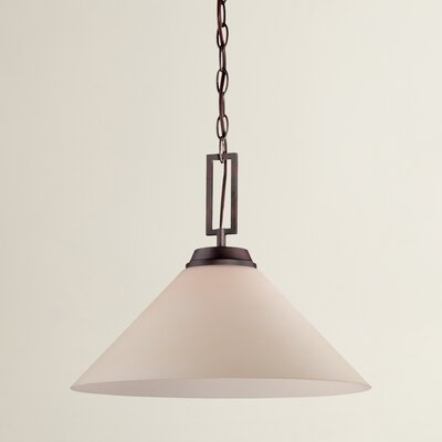 Simpson 1-Light Mini Pendant Finish: Espresso