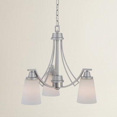 Preston 3-Light Shaded Chandelier Finish: Matte Nickel