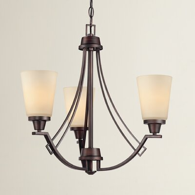 Simpson Contemporary 3-Light Shaded Chandelier Finish: Espresso