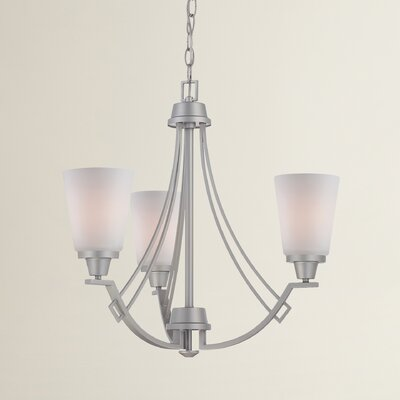 Simpson 3-Light Shaded Chandelier