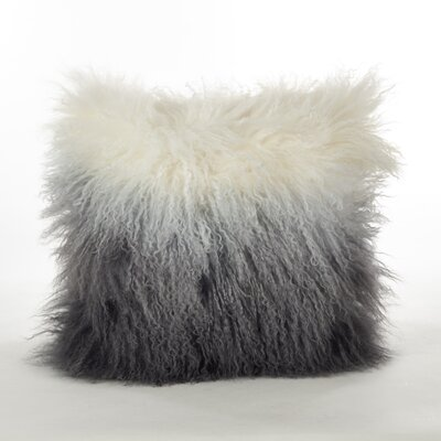 Blankenship Wool Lumbar Pillow Color: Gray