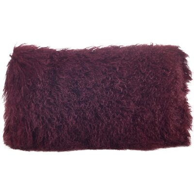 Becky Fur Lumbar Pillow Color: Eggplant