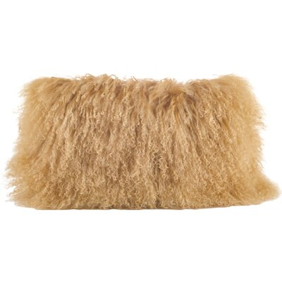 Becky Fur Lumbar Pillow Color: Gold