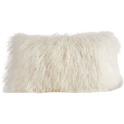 Becky Fur Lumbar Pillow Color: Ivory