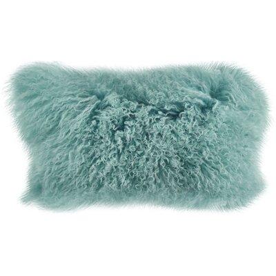 Becky Fur Lumbar Pillow Color: Mint
