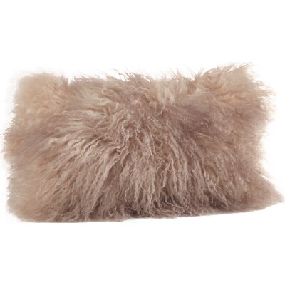 Becky Fur Lumbar Pillow Color: Oyster