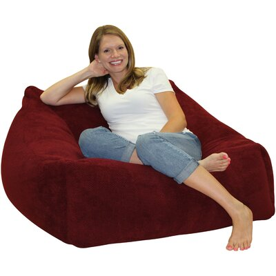 Solid Color Bean Bag Chair Upholstery: Baccarat Red
