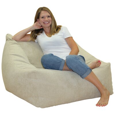 Solid Color Bean Bag Chair Upholstery: Buckwheat