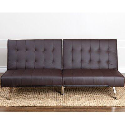 Elinor Convertible Sofa Upholstery: Dark Brown