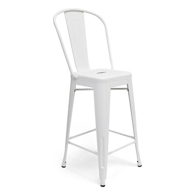 Louisa 26 Bar Stool Finish: White