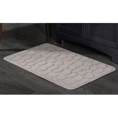Matthew Memory Foam Pebble Bath Mat Size: 21 x 34 inch Gray