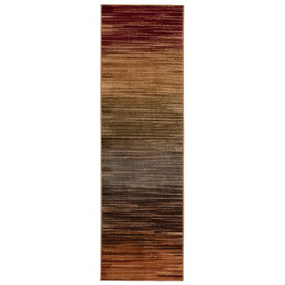 Margret Machine Woven Brown/Green/Burgandy Area Rug Rug Size: Runner 22 x 73