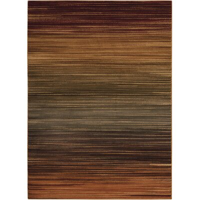 Margret Machine Woven Brown/Green/Burgandy Area Rug Rug Size: Rectangle 53 x 73