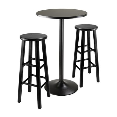 Avery 3 Piece Counter Height Pub Table Set