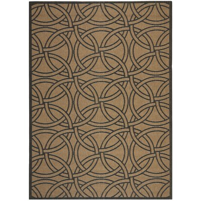 Links Beige/Black Area Rug Rug Size: 53 x 77
