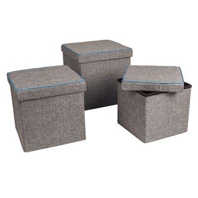 Marco 3 Piece Folding Storage Ottoman Set