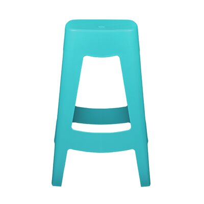 Maxwell Bar Stool (Set of 4) Finish: Teal