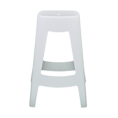 Maxwell Bar Stool (Set of 4) Finish: White