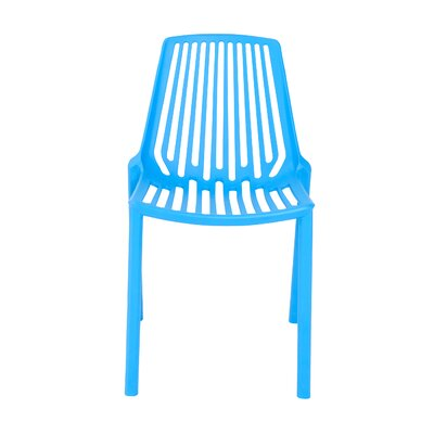 Cena Side Chair (Set of 4) Finish: Blue
