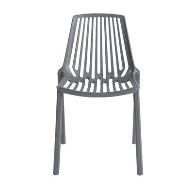Cena Side Chair (Set of 4) Finish: Dark Gray