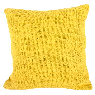 Donnie Cotton Throw Pillow (Set of 2) Color: Yellow