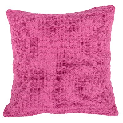 Donnie Cotton Throw Pillow (Set of 2) Color: Pink