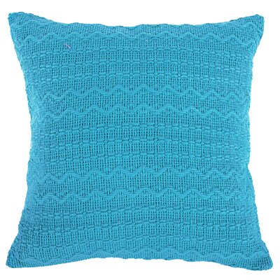 Donnie Cotton Throw Pillow (Set of 2) Color: Blue