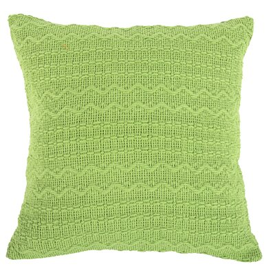 Donnie Cotton Throw Pillow (Set of 2) Color: Green