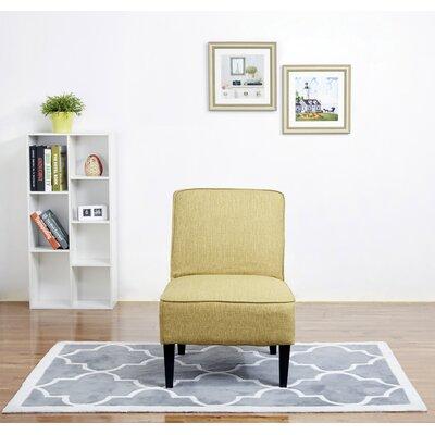 Finley Slipper Chair Upholstery: Green