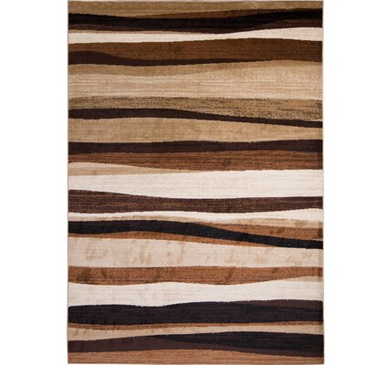 Nolan Brown Area Rug Rug Size: 52 x 72