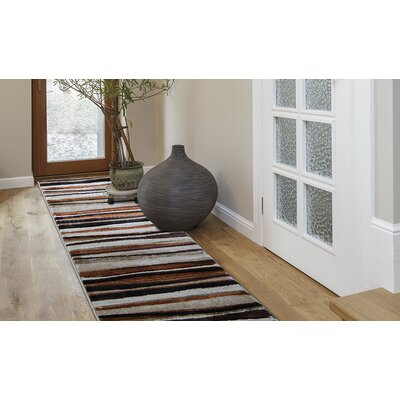 Nolan Brown Area Rug Rug Size: Runner 22 x 14