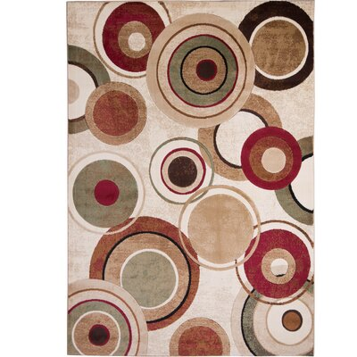 Nolan Geometric Brown/Tan Area Rug Rug Size: 33 x 47