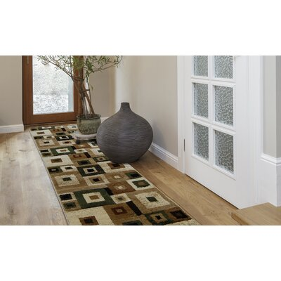 Nolan Brown/Green Area Rug Rug Size: 8 x 10
