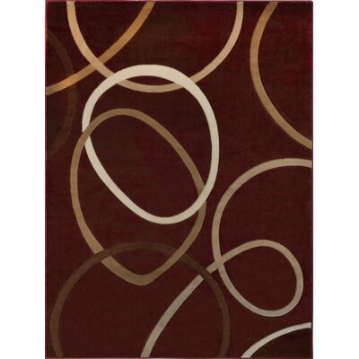 Nolan Red Area Rug Rug Size: 52 x 72