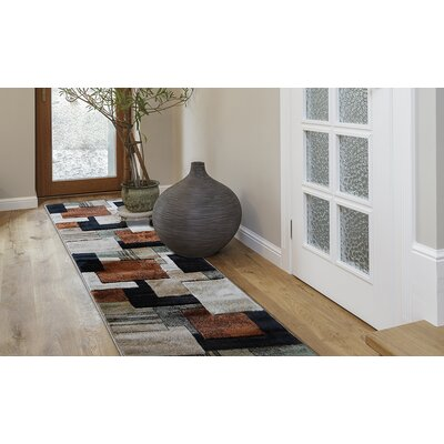 Nolan Brown/Green Area Rug Rug Size: Runner 22 x 14